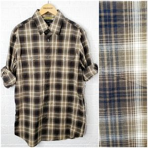 Banana Republic slim fit plaid military shirt